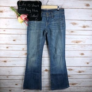 COH Naomi dark wash low waist flare stretch jeans